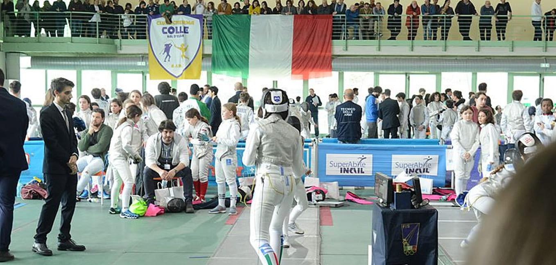 """A Colle oltre 550 atleti, successo per il Gran Prix """"Kinder +Sport"""" di fioretto a squadre"""